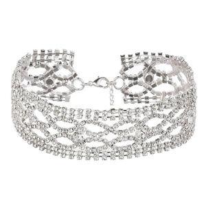 Short Rhinestone Choker Necklace